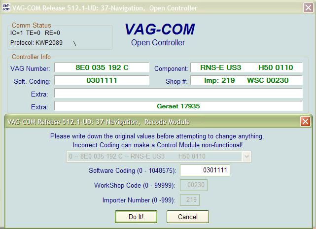 Vag Com Coding