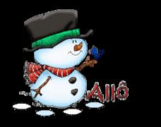 Allo - Snowman&Bird