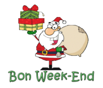 Bon Week-End - SantaDeliveringGifts