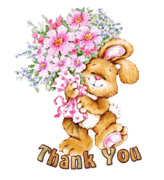 Thank You - BunnyWithFlowers