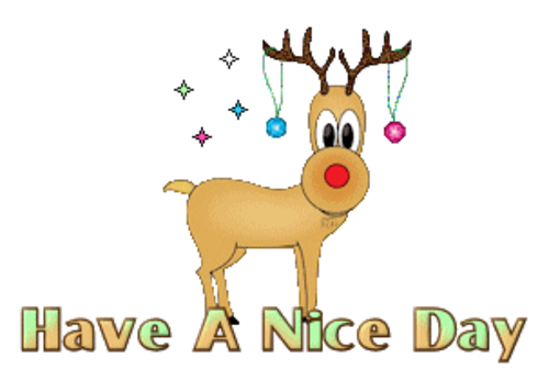 Have A Nice Day - ChristmasReindeer