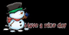 Have a nice day - Snowman&Bird