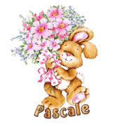 Pascale - BunnyWithFlowers