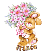 France - BunnyWithFlowers