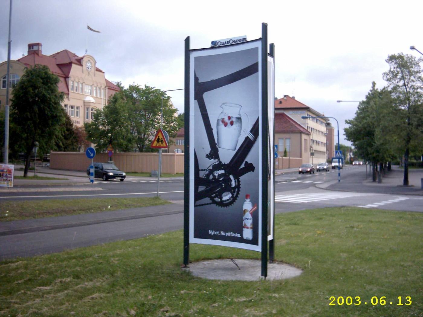 Werbeplakat in Motala