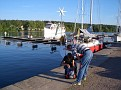 Kirsten & Bernd im Hafen Motala