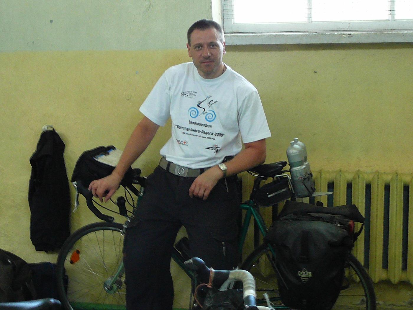 Zufriedener Frank mit seinem Bike