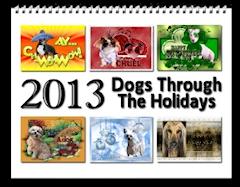 2013 Dogs Through the Holidays Calendar zazzle_calendar