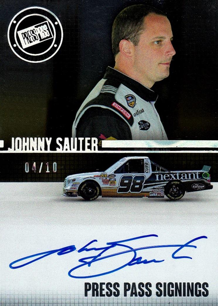 2015 Press Pass Signings Melting Johnny Sauter (1)