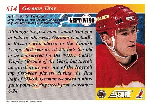 1993-94 Score #614 (2)