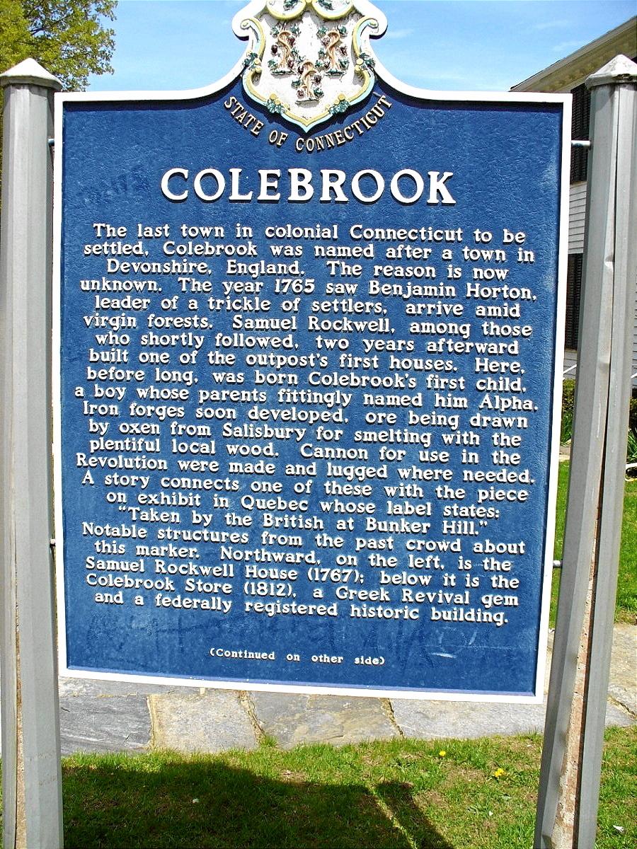 COLEBROOK CENTER - HISTORY - 01