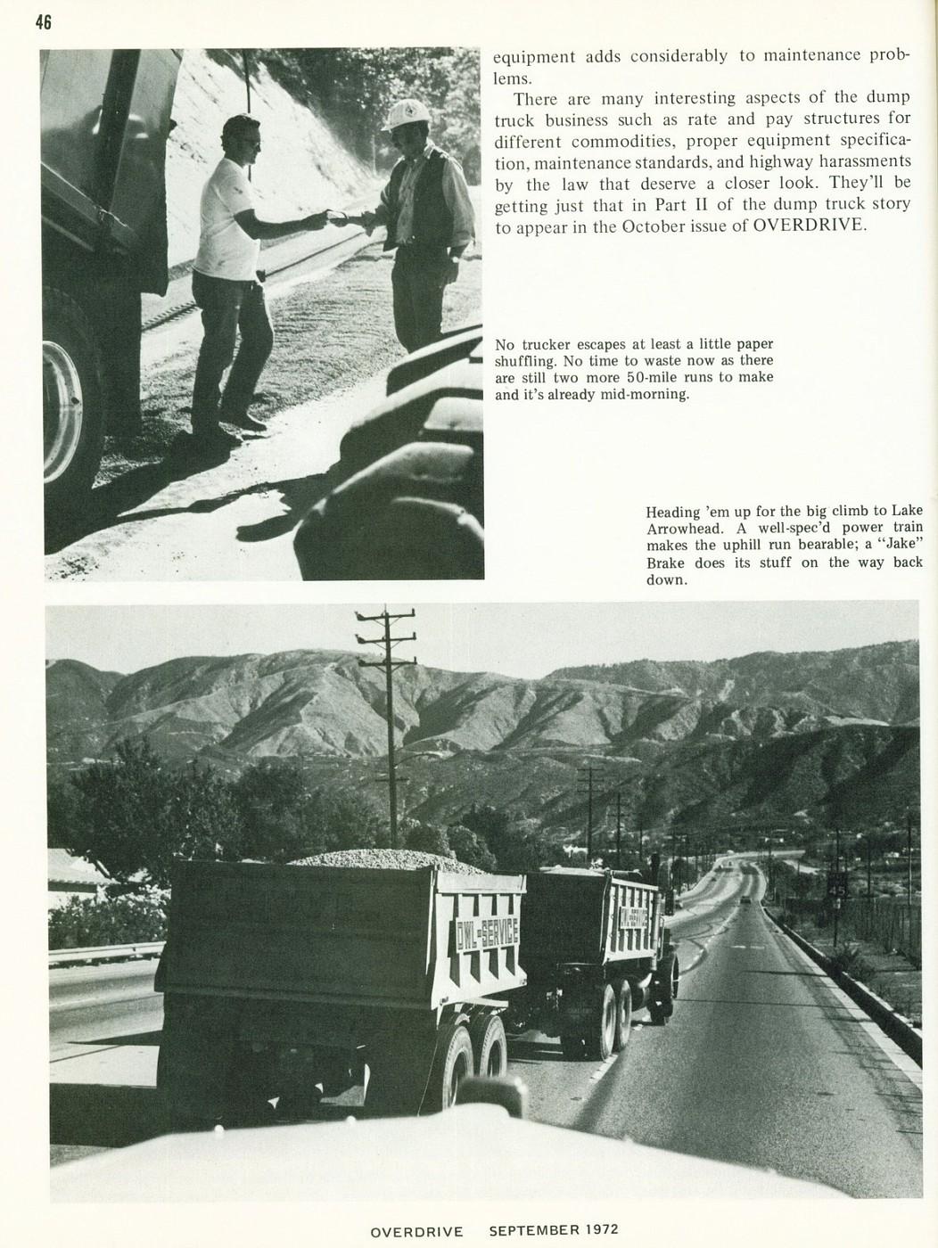 September 1972 Dump Trucking Part I 3