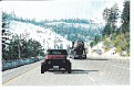 On Donner Pass with Ken and Sandy in the lead