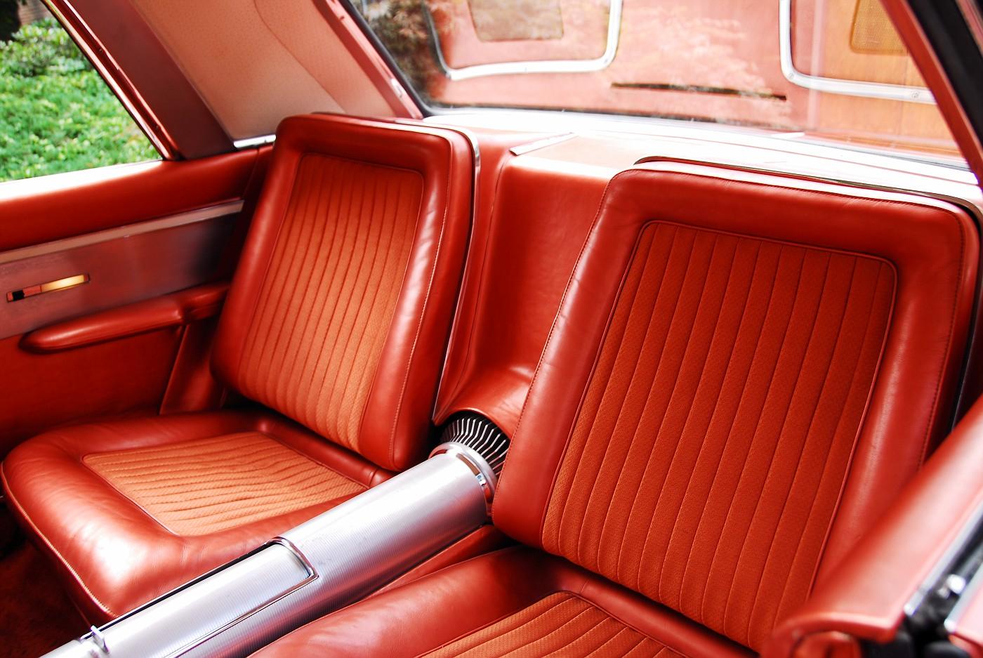 20 1963 Chrysler Ghia Turbine Car rear interior bucket seat detail view