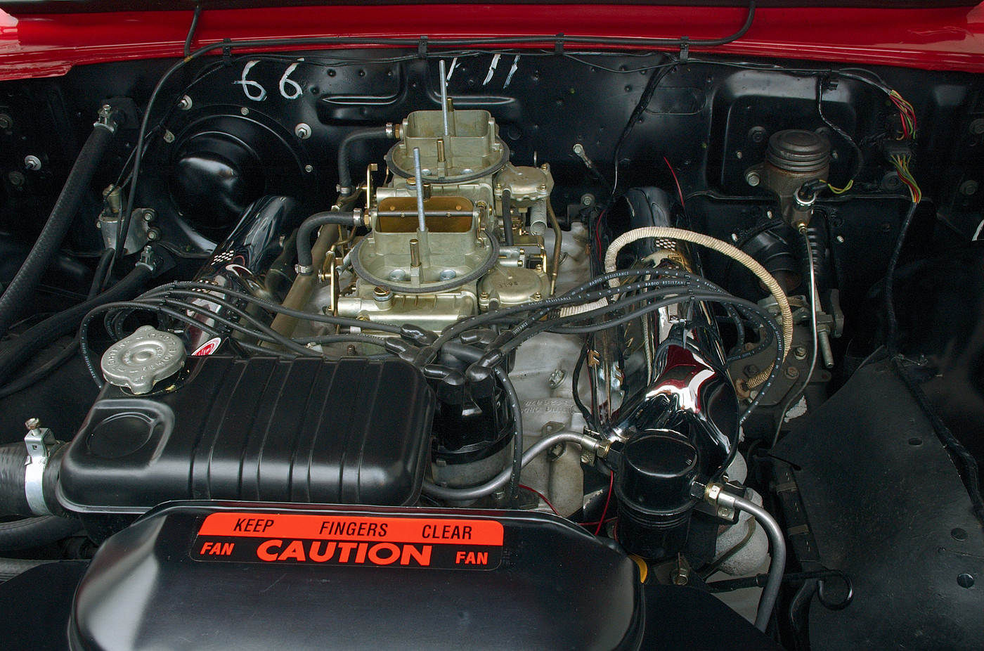 1963 Ford Galaxie 500 XL 427 R-code front engine compartment view