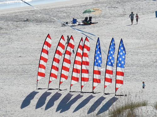 Saturday -- Mom's flag set.