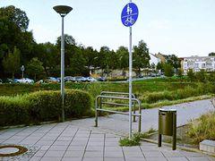 Benutzungspflichtiger Geh-/Radweg für Radfahrende gesperrt