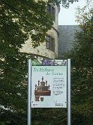 Schild am Kräutergarten der Wewelsburg