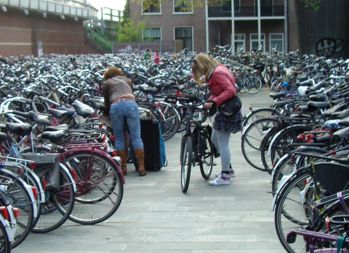Fietsenstalling in Haarlem