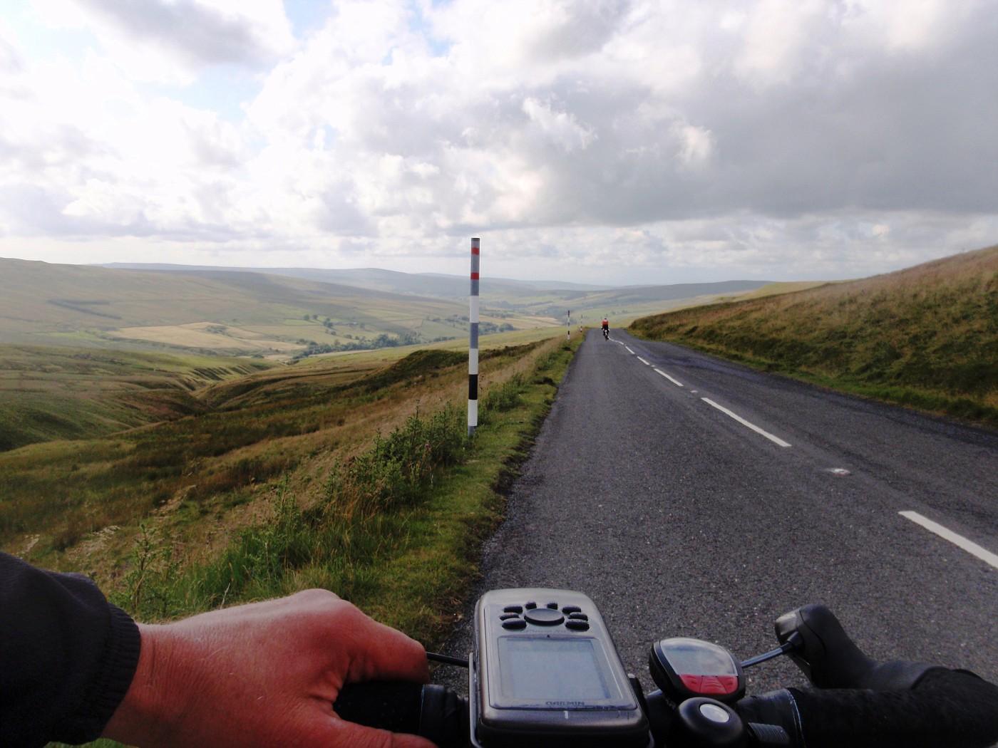 Road through the hills of Cumbria