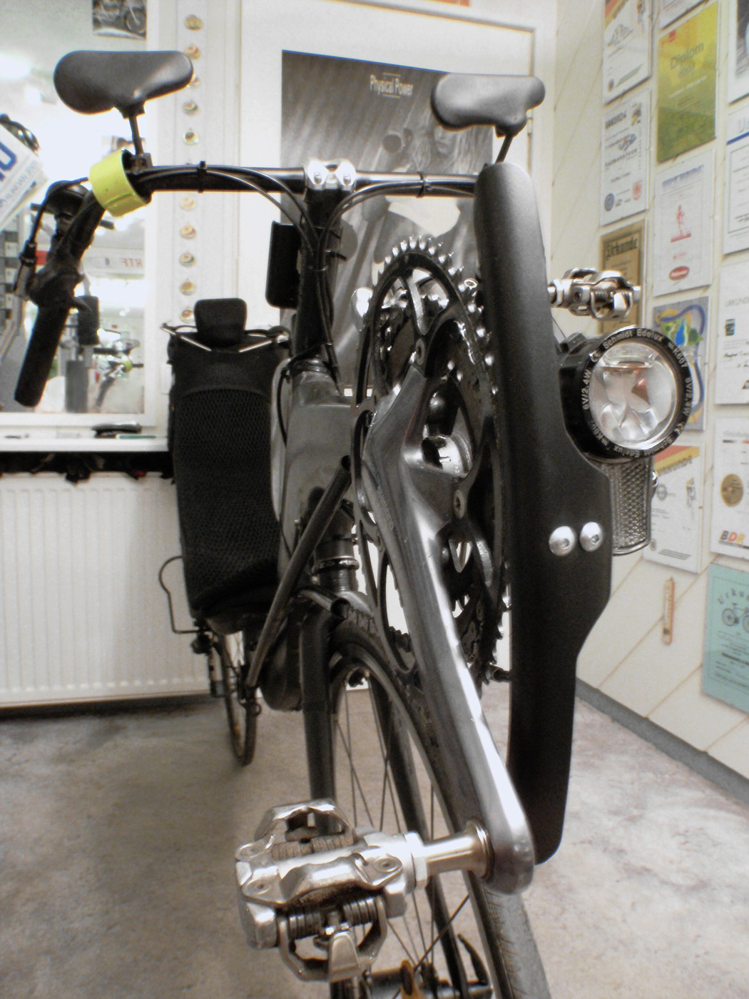 Mounted crankset protection