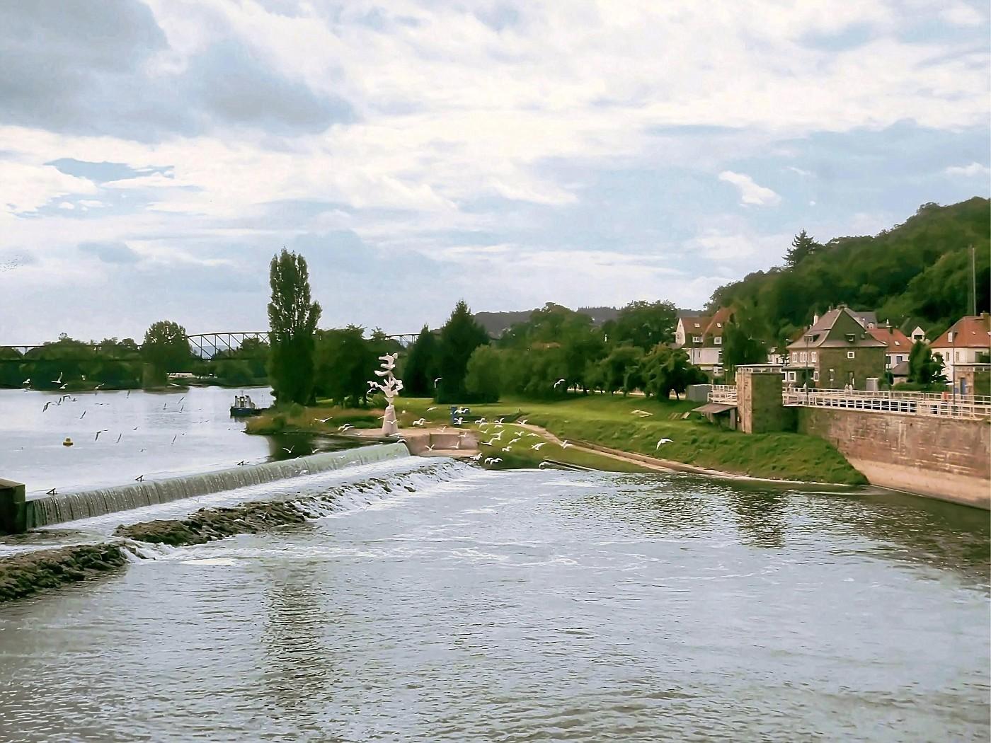Weserstaustufen bei Hameln