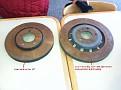 Disc brake comparisons - CVPI on left, Ford 2013 PI on right.