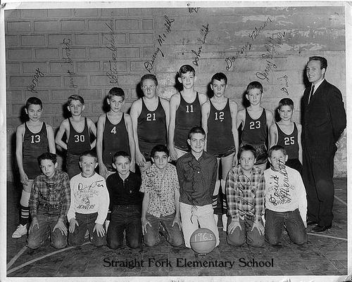 3-Memories of Straight Fork School Basketball - Kathy Lay