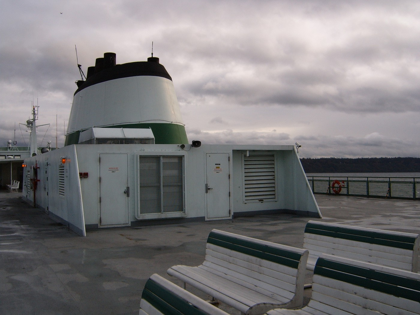 On ferry's deck