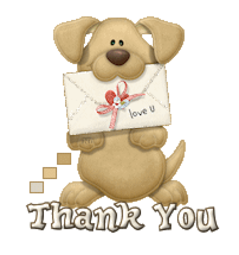 Thank You - PuppyLoveULetter