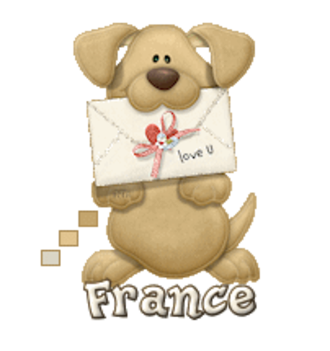 France - PuppyLoveULetter