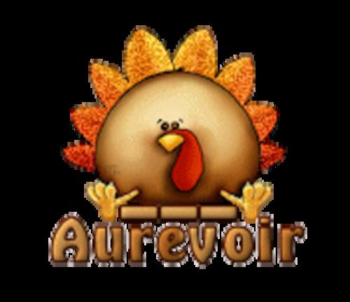 Aurevoir - ThanksgivingCuteTurkey