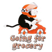 Going for grocery - Raxi
