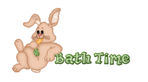 Bath Time - BunnyWithCarrot