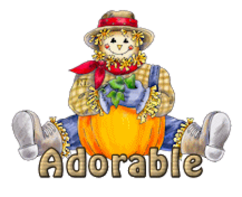 Adorable - AutumnScarecrowSitting