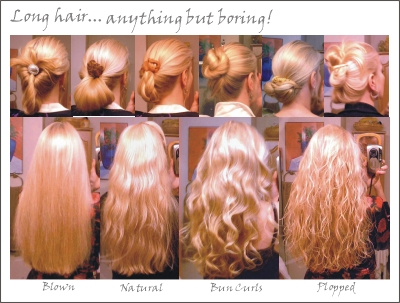 Long Hair Perm Photos. Different hair perm rods will