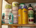 Another shelf of hair products!