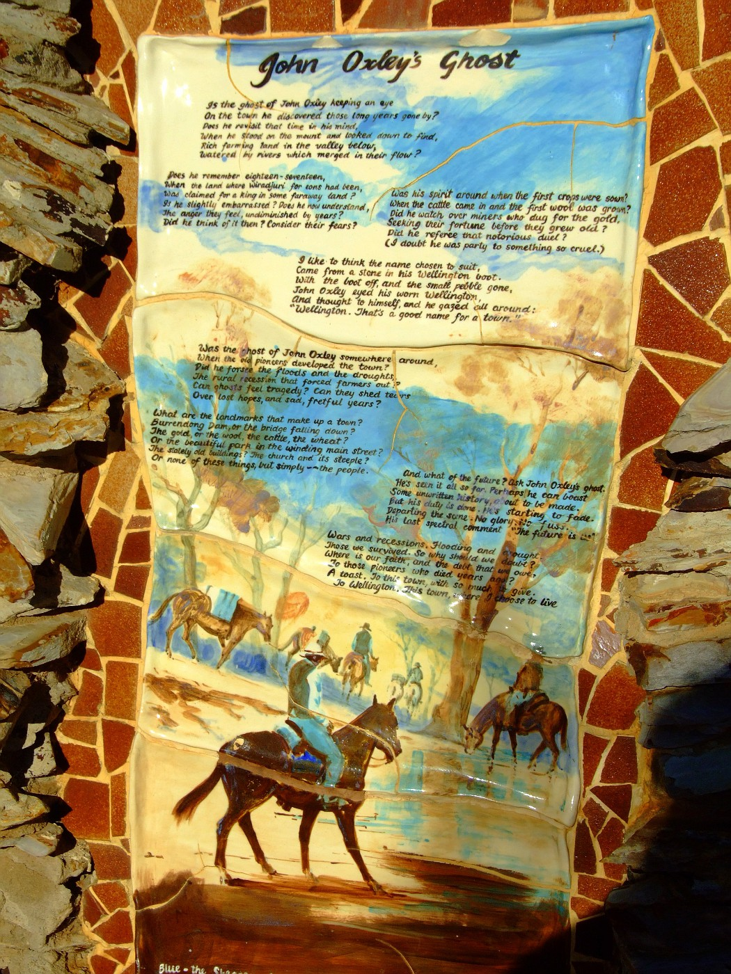Wall Mosaic - John Oxley's Ghost 002
