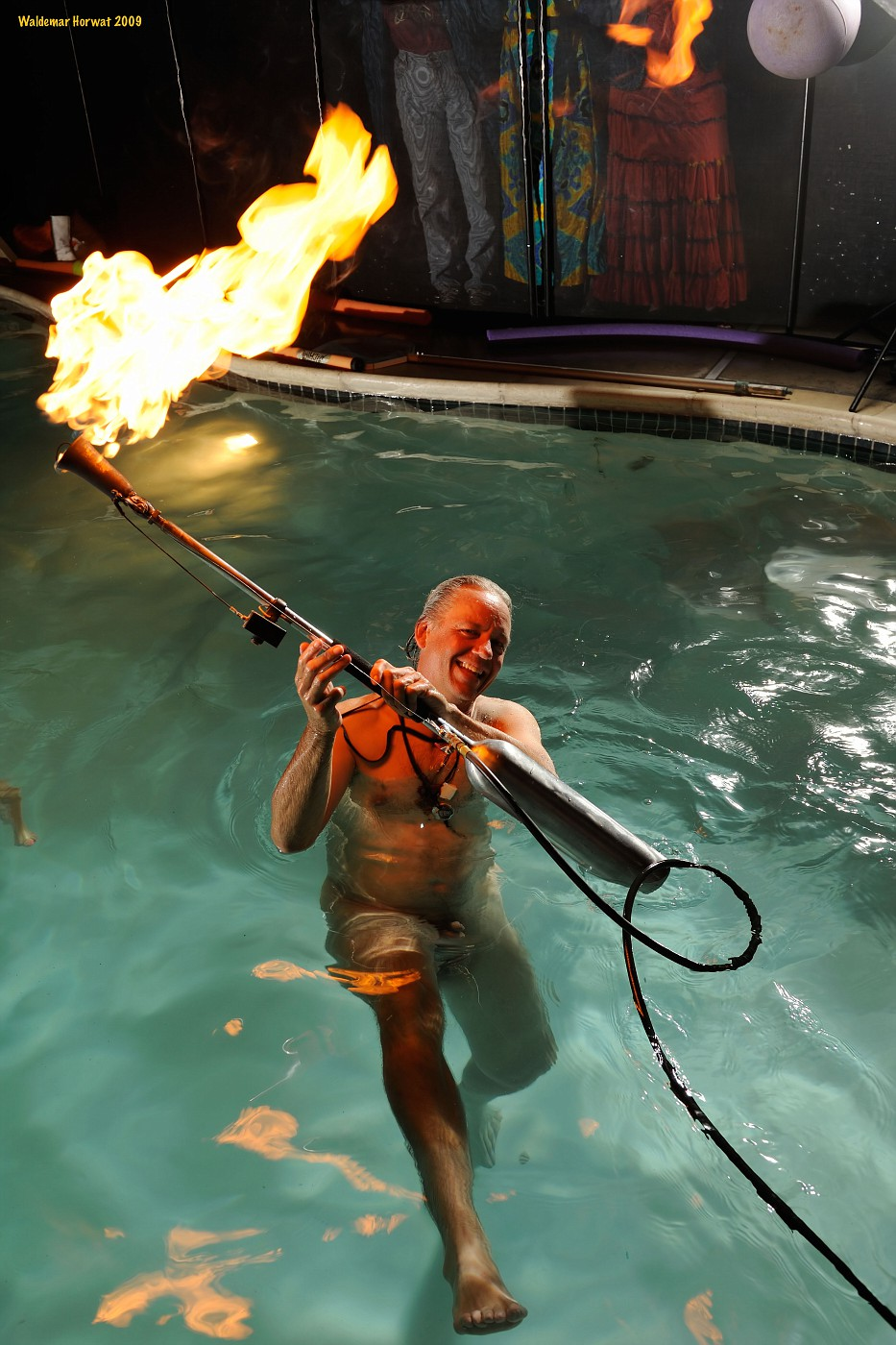 Flamethrower Water Dance