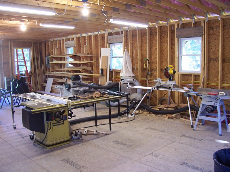 garage woodworking shop