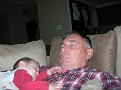 Braden's naps require G'pa to closely supervise him throughout...