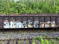 Mostly spray graffiti