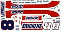 1990 Bobby Hillin Snickers JNJ #181  747