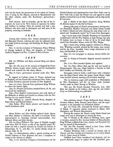 STONINGTON CHRONOLOGY - PAGE 026