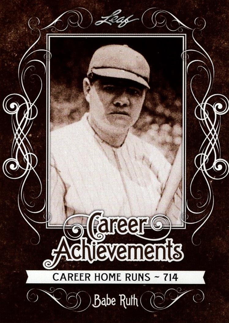 2016 Leaf Babe Ruth Career Achievements #CA-02 (1)