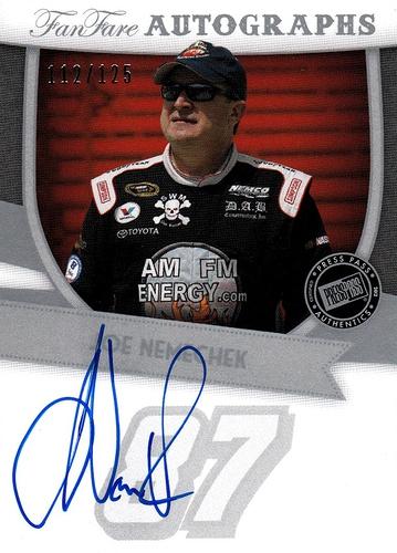 2012 FanFare Autographs Silver Joe Nemechek (1)