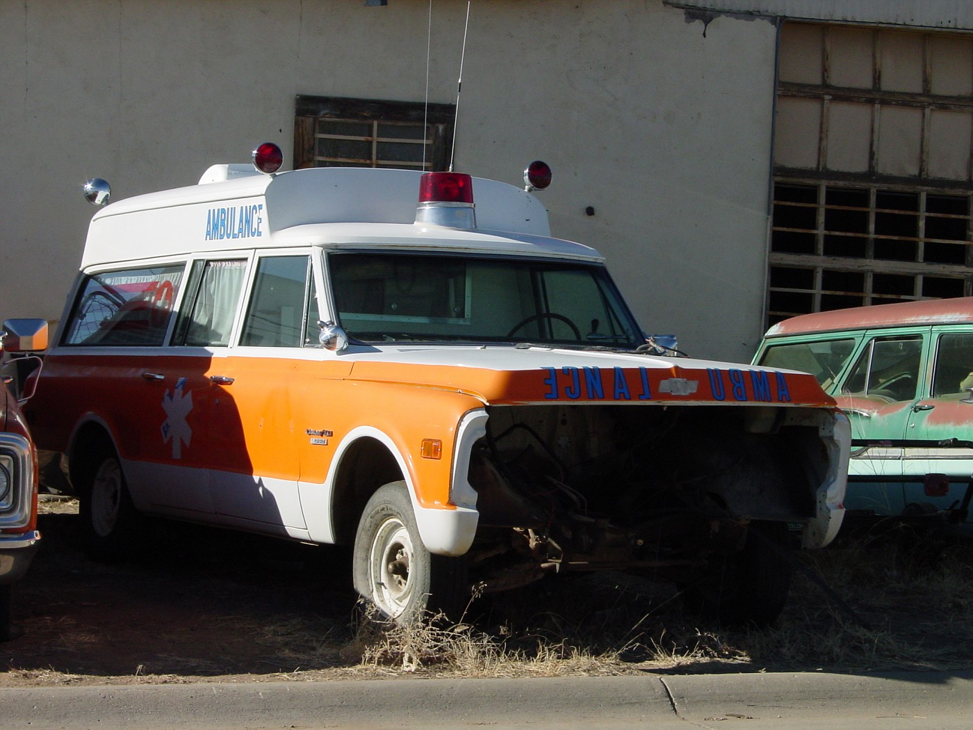 CO - Chevy ambulance (1969-1970) in a Colorado boneyard