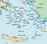 lonely Planet Map of South Aegean Islands (Greece)