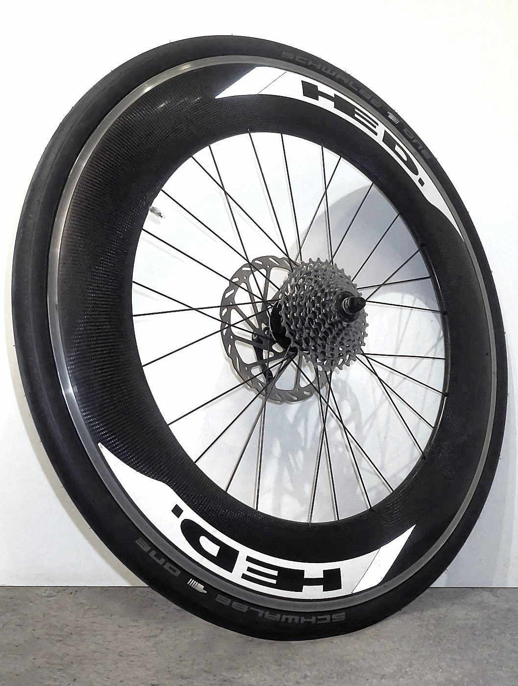 Rear wheel - ready re-spoked and centered