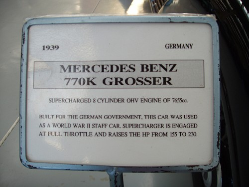1939 Mercedes Benz 770K Grosser